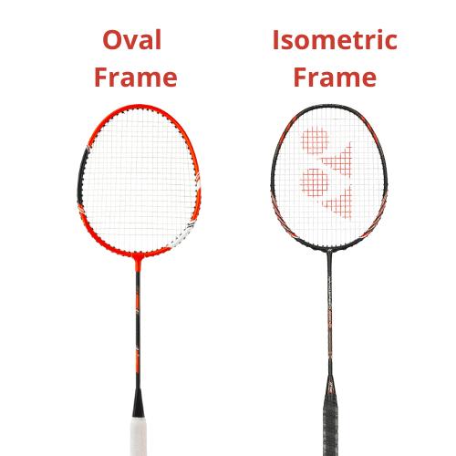 Shapes of Badminton Rackets